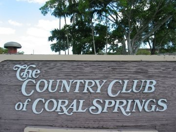 Coral Springs Country Club sign