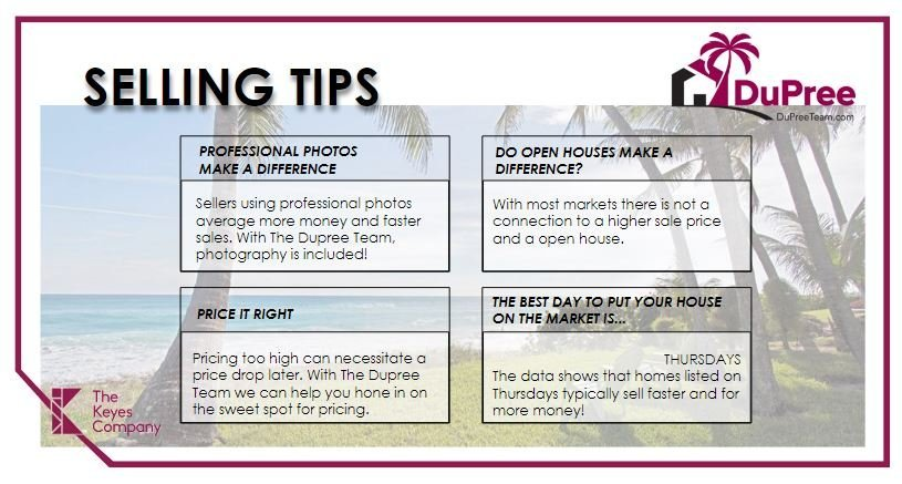 The Dupree Team The Keyes Company Real Estate Selling Tips