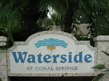 Waterside Coral Creek sign